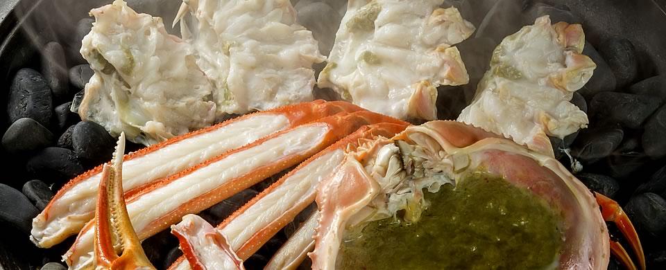 越前ガニの焼き蟹