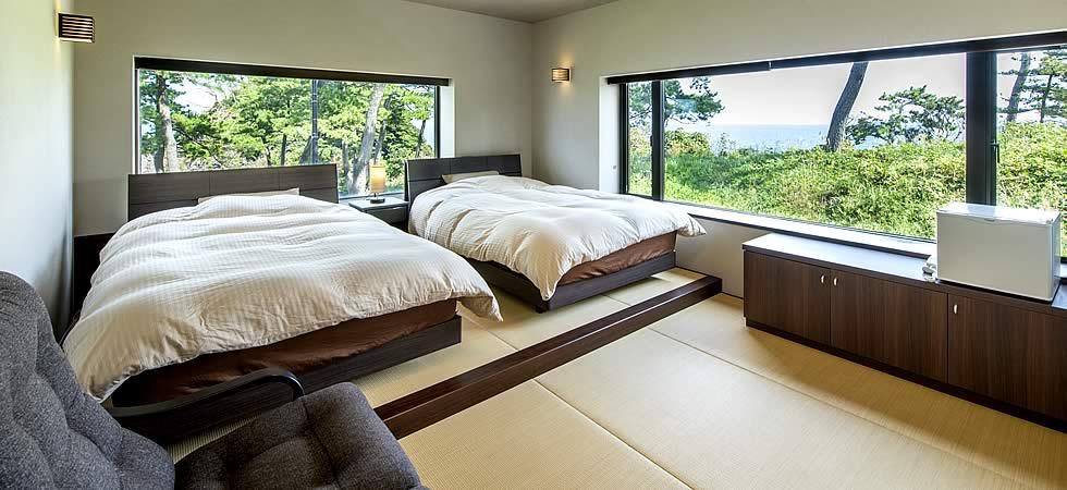 ベッドの客室「海幸」